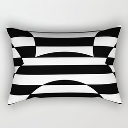 Striped Contrast Rectangular Pillow
