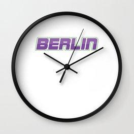 Berlin Techno Music Techno Station Travel Music Lovers EDM Electronic Dance Gift Wall Clock