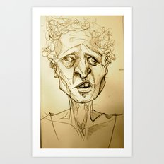 'sup (on the subway) Art Print