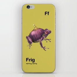 Ff - Frig // Half Frog, Half Fig iPhone Skin
