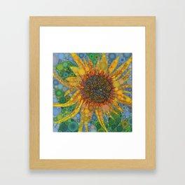 Percolated Sunflower Framed Art Print