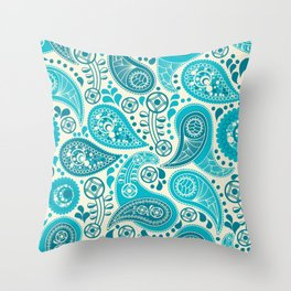 Paisley Pattern Boteh Buta Droplet Abstract Throw Pillow