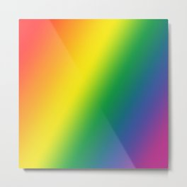Gay Pride Gradient Metal Print