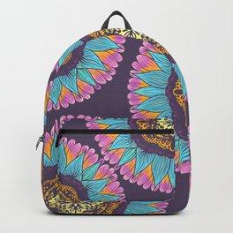Bohemian Purple Pink Yellow Lace Mandalas Backpack