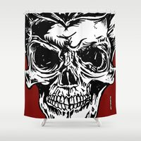 kindle Shower Curtains featuring 108 by ALLSKULL.NET
