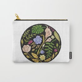 Circular Floral Pattern Design Carry-All Pouch