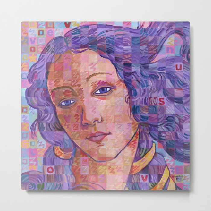 Variations On Botticelli's Venus – No. 2 Metal Print