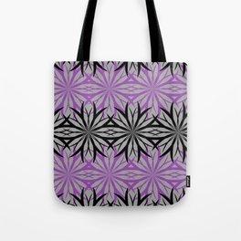black and purple Tote Bag