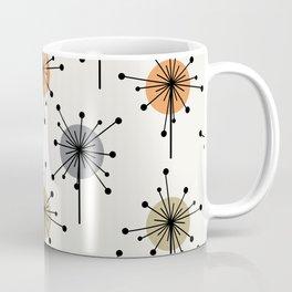 Midcentury Sputnik Starburst Flowers Colorful Coffee Mug