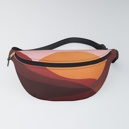 Abstraction_Mountains_SUNSET_Minimalism Fanny Pack