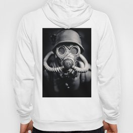 German Solider in a Gas Mask from World War II Hoody