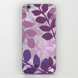 Ultra Violet Purple Lavender Leaves Pattern iPhone Skin