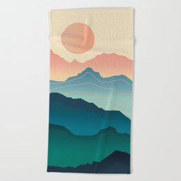 Wanderlust Gradient Mountain Beach Towel