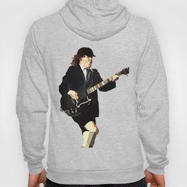 Low Polygon Portrait of Angus Young Hoody