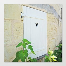Heart Shaped Door - France Canvas Print