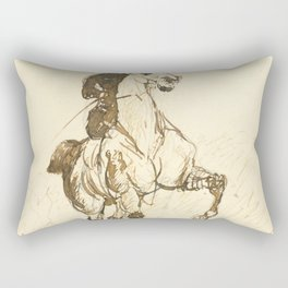 "Henri de Toulouse-Lautrec ""Amazone"" Rectangular Pillow"