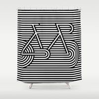 bicycle Shower Curtains featuring Bicycle by AndISky
