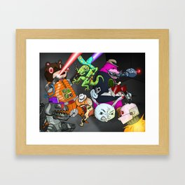 Kill the Robot Duplicates! Framed Art Print