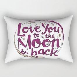 Love You to the Moon & Back...Merlot & Peach Rectangular Pillow