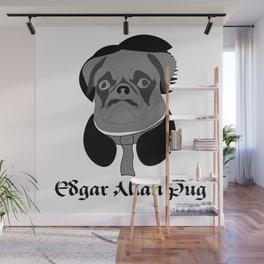 Edgar Allan Pug Wall Mural