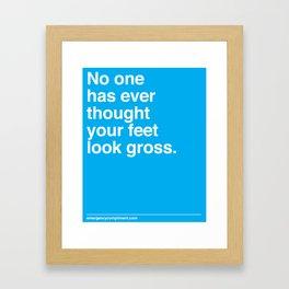Your Feet Framed Art Print