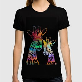 Cosmically Connected Galaxy Giraffes T-shirt