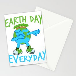 "Earth Day Dabbing Earth Blast Is A Graphic Design That Has Words ""Earth Day"" T-shirt Design Stationery Cards"