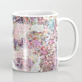 San Diego map flowers Coffee Mug
