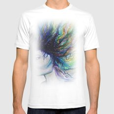 Let go of old dreams MEDIUM White Mens Fitted Tee