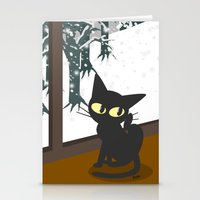 snow Stationery Cards featuring Snow by BATKEI