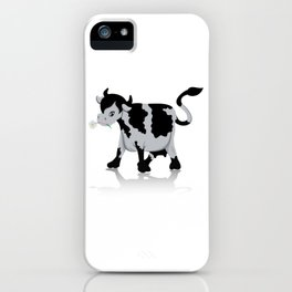 Cow chewing flower iPhone Case