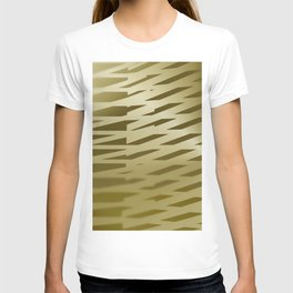 Sepia light stripes room T-shirt