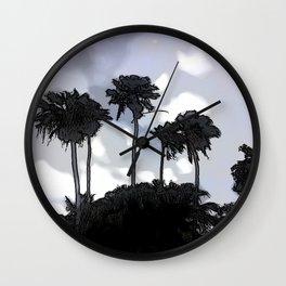 Palmiers blues - Palmetto blues Wall Clock