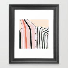 Unbutton Framed Art Print