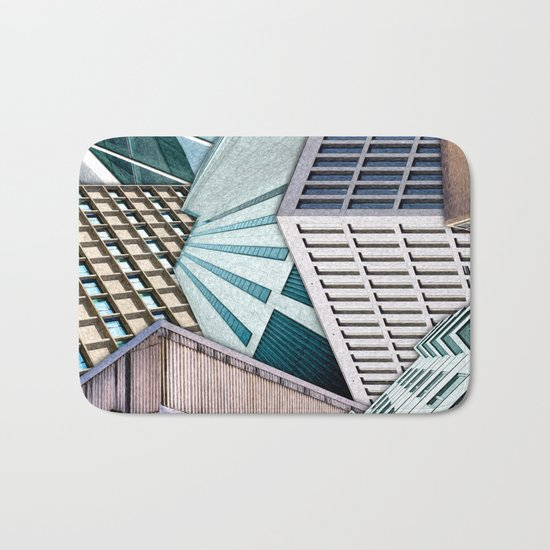 City Buildings Abstract Bath Mat
