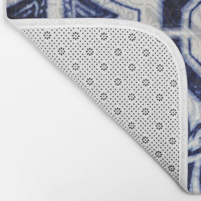 Azulejo VI - Portuguese hand painted tiles Bath Mat