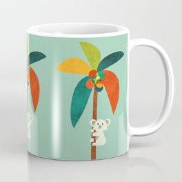 Koala on Coconut Tree Coffee Mug