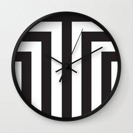 Black T Stripes Wall Clock