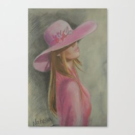 Lady in the hat Canvas Print