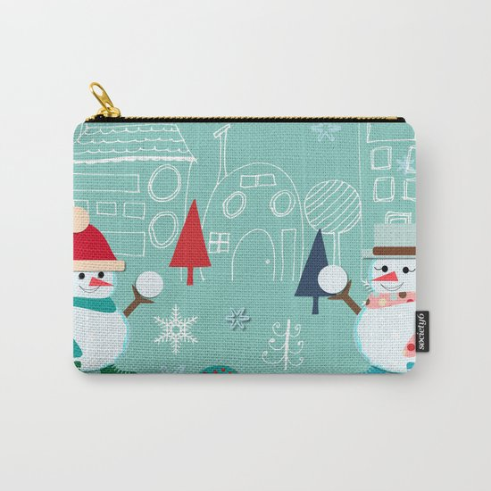 winter fun blue Carry-All Pouch