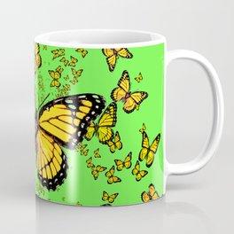 YELLOW BUTTERFLIES GREEN SUMMER ART Coffee Mug