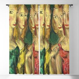 Four Sisters by Alfred Henry Maurer Blackout Curtain
