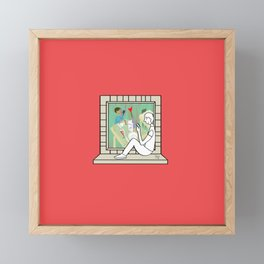 Plenty of imagination: the man in love. Framed Mini Art Print