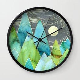 Moonlit Mountains Wall Clock