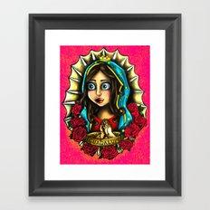Lady Of Guadalupe (Virgen de Guadalupe) PINK VERSION Framed Art Print
