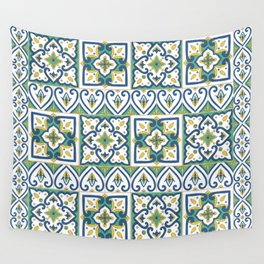 Italian Tile Pattern – Sicilian ceramic from Caltagirone Wall Tapestry