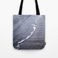 salt water Tote Bags featuring Salt water by Emelie Johansson