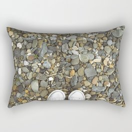 Brown pebbles and silver shoes Rectangular Pillow