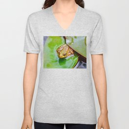 Frog on a Lily-pad Unisex V-Neck