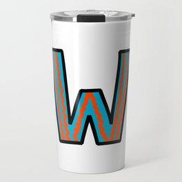 Uppercase Letter W Travel Mug
